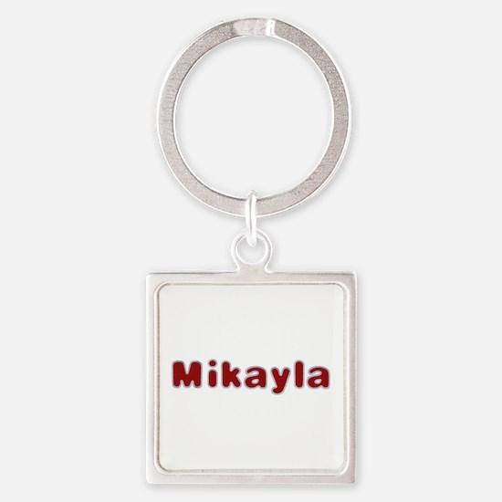 Mikayla Santa Fur Square Keychain