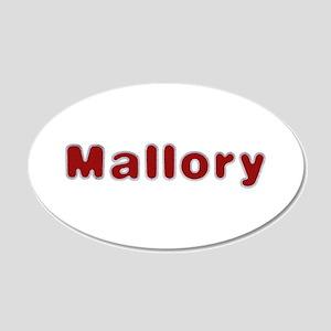 Mallory Santa Fur 20x12 Oval Wall Decal