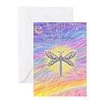 LetGo-Dragonfly (multi) Greeting Cards (Pk of 10)
