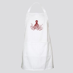 Burgundy Octopus Apron
