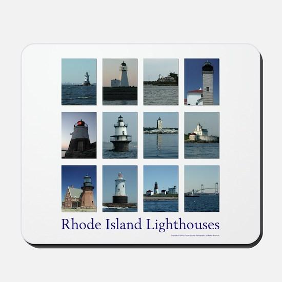 Rhode Island Lighthouses Mousepad