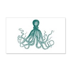 Dark Teal Octopus Wall Decal