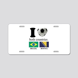 BRAZIL-BOSNIA Aluminum License Plate