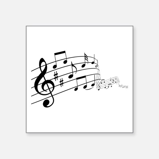 "Musical Symbols Square Sticker 3"" x 3"""