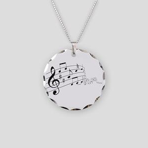 Musical Symbols Necklace Circle Charm