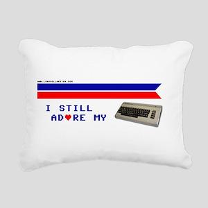 I Adore My C64 Rectangular Canvas Pillow