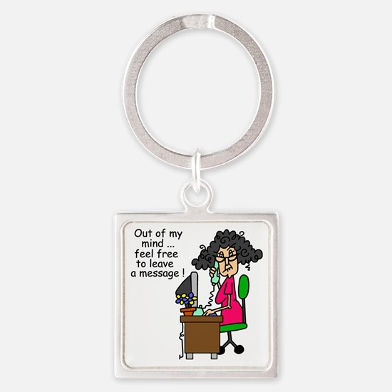 Out of My Mind Square Keychain
