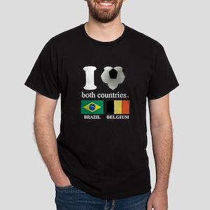 BRAZIL-BELGIUM Dark T-Shirt