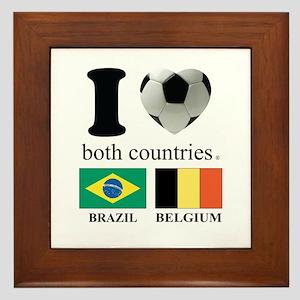 BRAZIL-BELGIUM Framed Tile