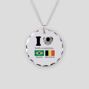 BRAZIL-BELGIUM Necklace Circle Charm