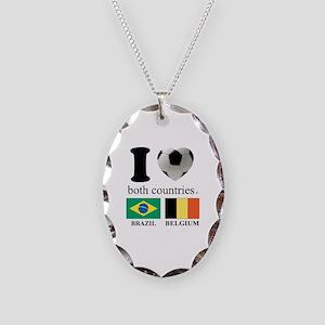BRAZIL-BELGIUM Necklace Oval Charm