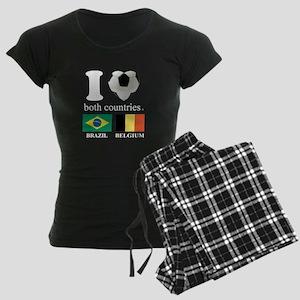 BRAZIL-BELGIUM Women's Dark Pajamas