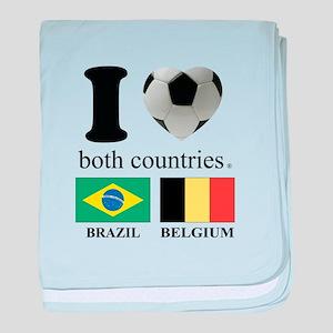 BRAZIL-BELGIUM baby blanket