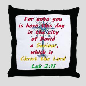 Saviour Christ the Lord Throw Pillow