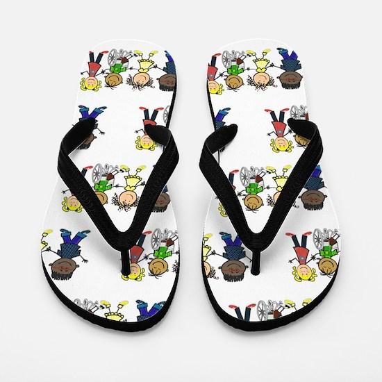 Friends (pattern) Flip Flops