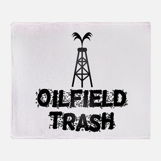 Oilfield Trash Throw Blanket