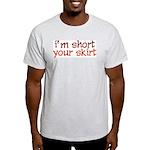 Short Skirt Ash Grey T-Shirt