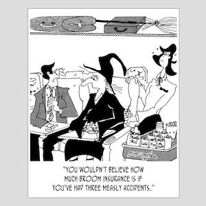 Insurance Cartoon 5221 Small Poster