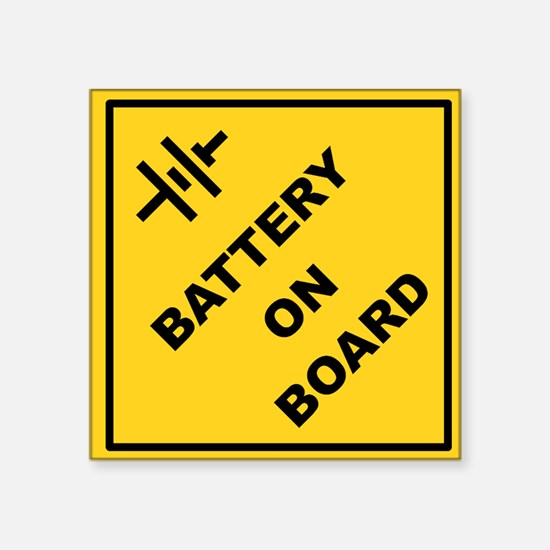 Square Sticker 3&Quot; X 3&Quot; Battery On Board