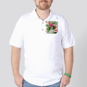 Watercolor Flowers Golf Shirt