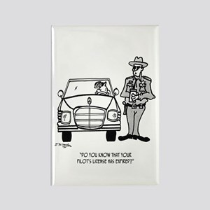Pilot Cartoon 5214 Rectangle Magnet