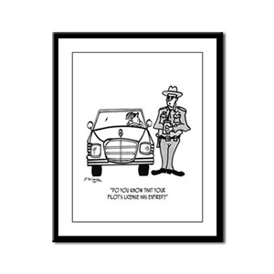 Pilot Cartoon 5214 Framed Panel Print