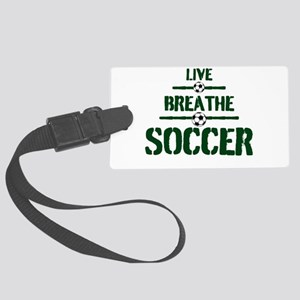 Live Breathe Soccer Luggage Tag