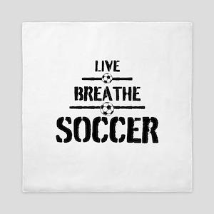 Live Breathe Soccer Queen Duvet