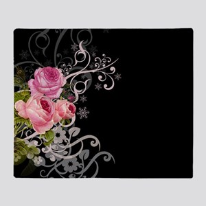 Rose Elegance Throw Blanket
