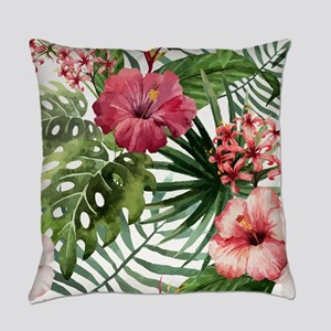 Watercolor Flowers Everyday Pillow