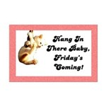 Hang In There Baby Mini Poster Print