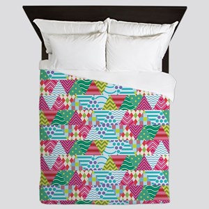 Triangle Pattern Busy - Ugly Tshirt Queen Duvet