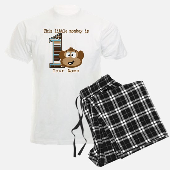 1st Birthday Monkey Personalized Pajamas