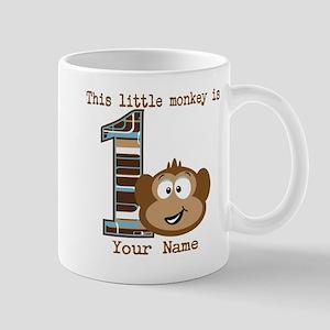1st Birthday Monkey Personalized Mug