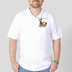 1st Birthday Monkey Personalized Golf Shirt