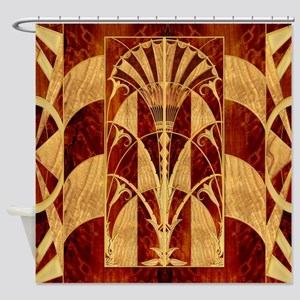 Harvest Moons Art Deco Panel Shower Curtain