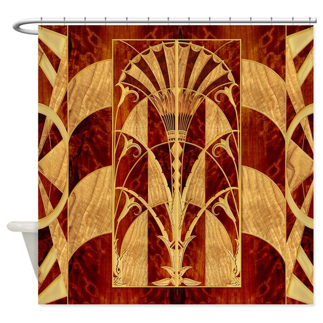 Harvest Moon S Art Deco Panel Shower Curtain By