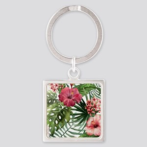 Watercolor Flowers Keychains