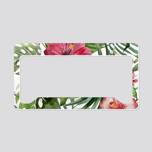 Watercolor Flowers License Plate Holder