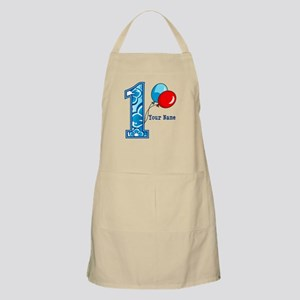 1st Birthday Floral and Balloons Apron