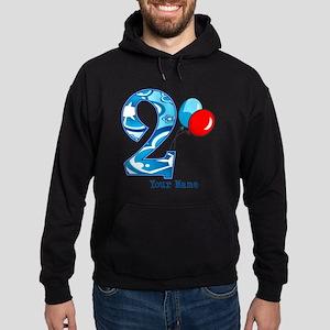 2nd Birthday Personalized Hoodie (dark)