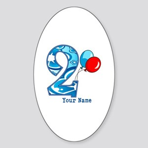 2nd Birthday Personalized Sticker (Oval)