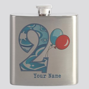 2nd Birthday Personalized Flask