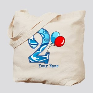 2nd Birthday Personalized Tote Bag