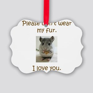 Chinchilla No Fur Ornament