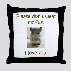Chinchilla No Fur Throw Pillow
