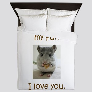 Chinchilla No Fur Queen Duvet