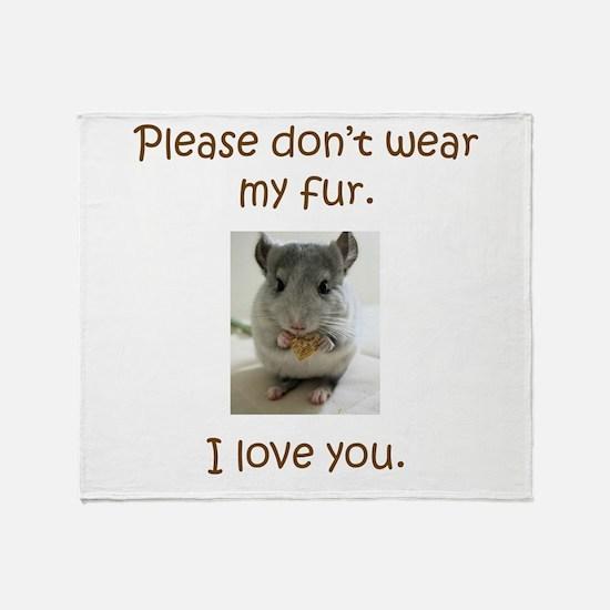 Chinchilla No Fur Throw Blanket