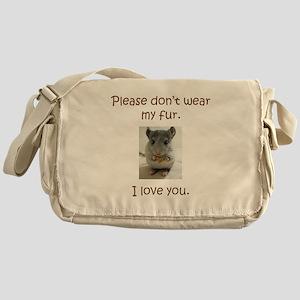 Chinchilla No Fur Messenger Bag