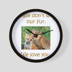 Fox No Fur Wall Clock
